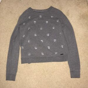 Abercrombie and Fitch grey sweater with gems